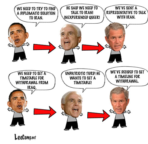 Obama, McCain then Bush