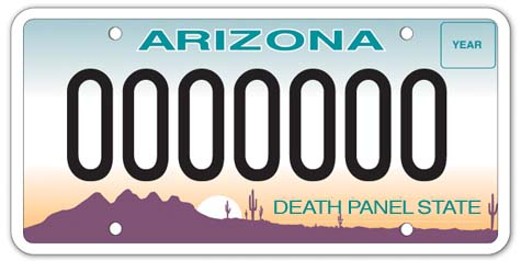 New Arizona license plate