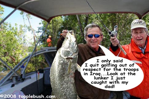 Bush fishing with his dad