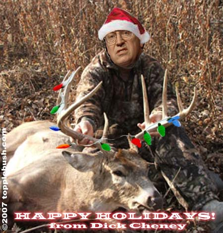 Happy holidays from Dick Cheney