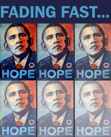Obama hope starting to fade fast