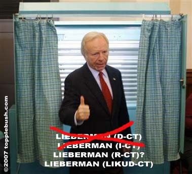 What in the world is Joe Lieberman?