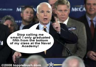 McCain sets the record straight about his intellect