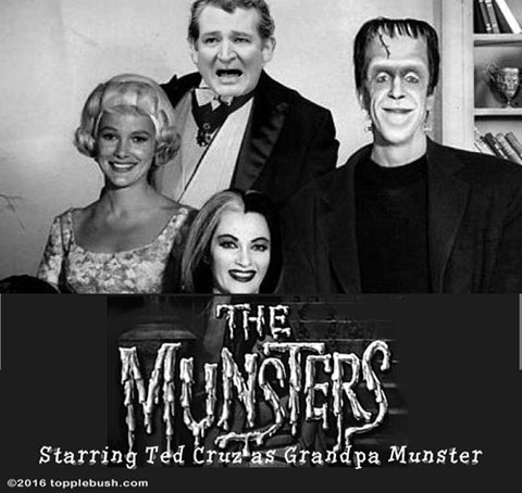 The Munsters starring Ted Cruz as Grandpa Munster