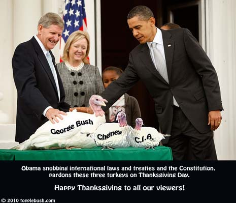 Obama pardons three turkeys on Thanksgiving Day